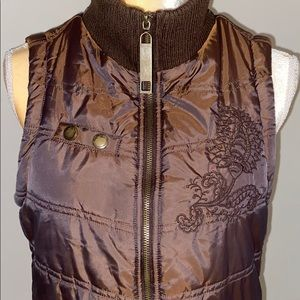 BKE M Embroidered Puffer Vest